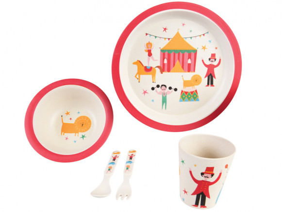 Rex London Bamboo Tableware Set CIRCUS