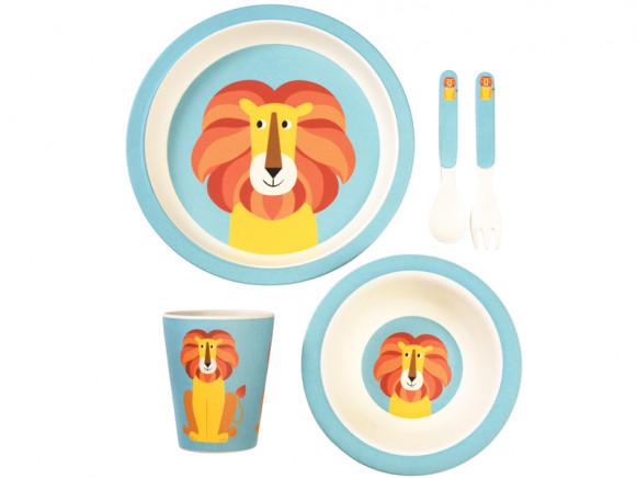 Rex London Bamboo Tableware Set LION