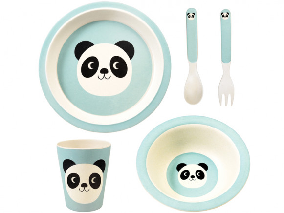 Rex London Bamboo Tableware Set MIKO THE PANDA