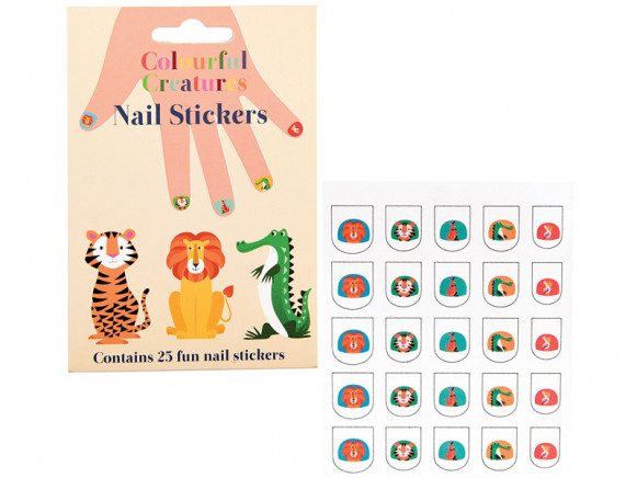 Rex London Nail Stickers COLOURFUL CREATURES