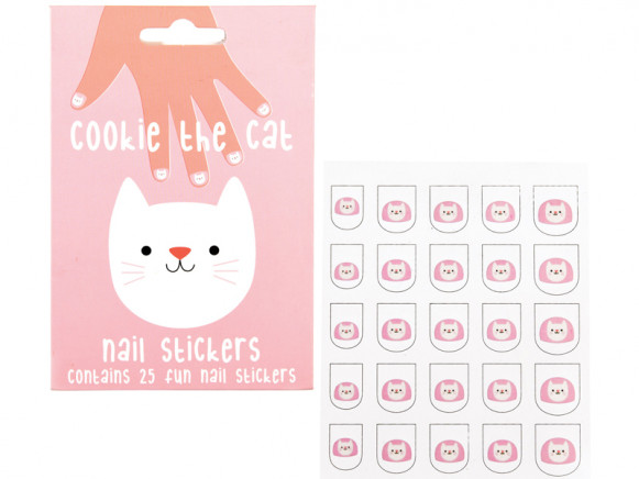 Rex London Nail Stickers COOKIE THE CAT