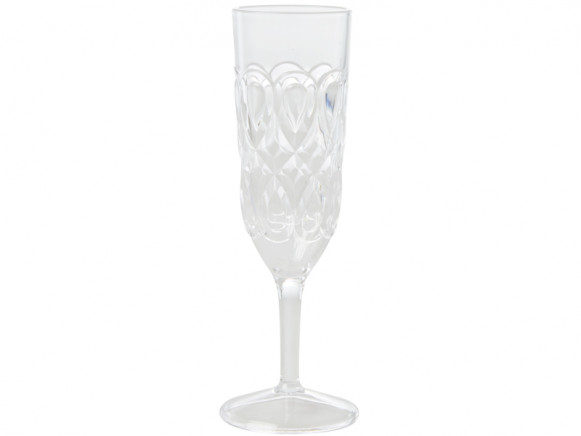 RICE Acrylic Champagne Glass CLEAR