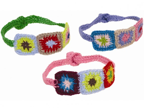 Bracelet with squares by RICE Denmark