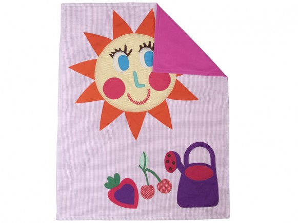 Baby blanket for girls with applications by RICE