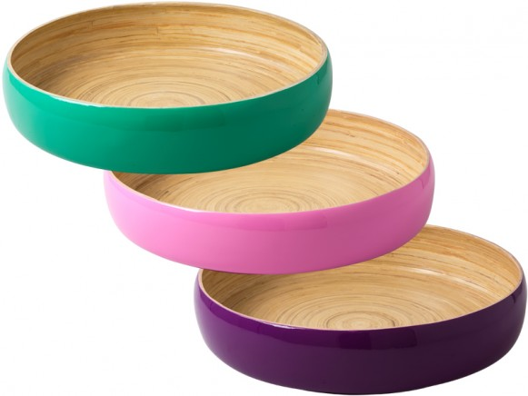 Lacquered round bamboo tray by RICE Denmark