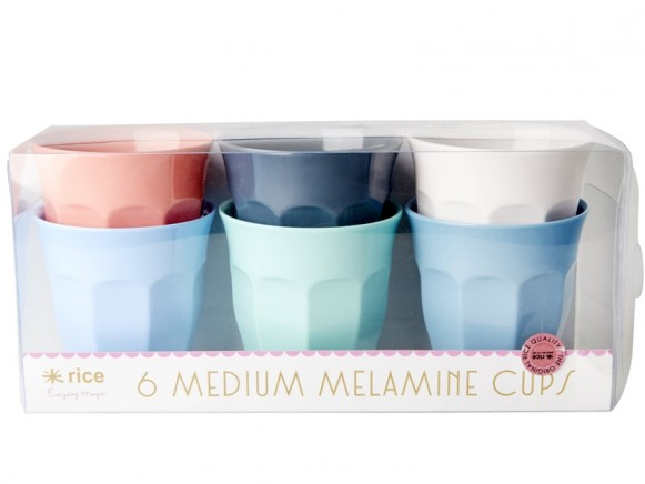 """RICE Melamine Cups """"Happy 21st!"""" Colors"""