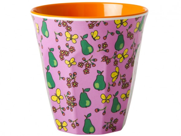 RICE melamine cup with pear print