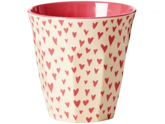 RICE Melamine Cup HEARTS
