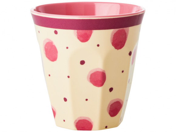 RICE Melamine Cup Watercolor Splash pink