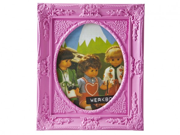 Large photo frame in pink by RICE Denmark
