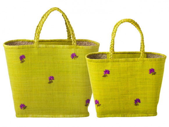 Anis shopping bag with daisies by RICE Denmark