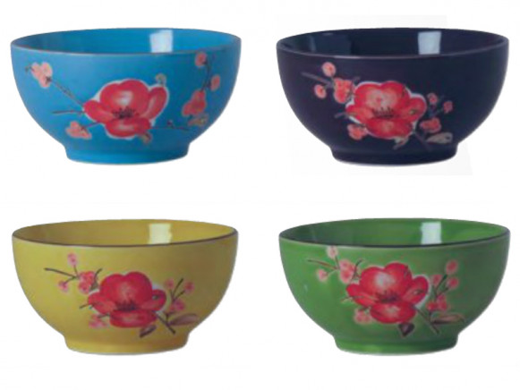 RICE dipping bowl set flowers