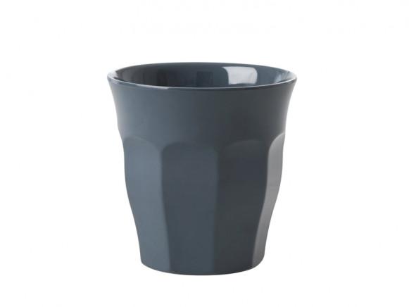 RICE Melamine Espresso Cup dark grey