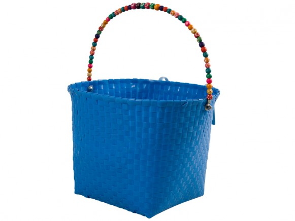 Large blue bicycle basket by RICE Denmark