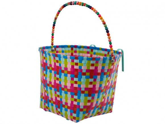 Large multicolour bicycle basket by RICE Denmark