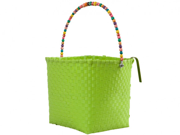 Large green bicycle basket by RICE Denmark