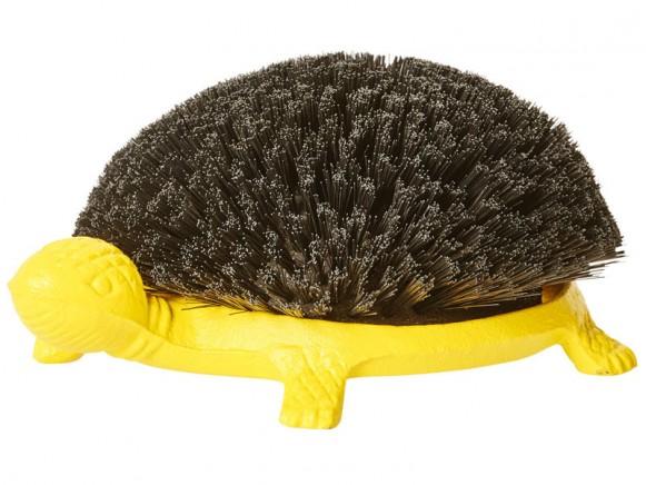 RICE Schuhabtreter Schildkröte gelb