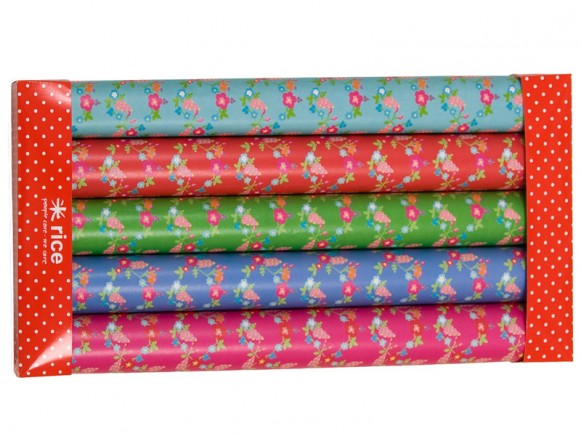 Small floral printed wrapping paper by RICE