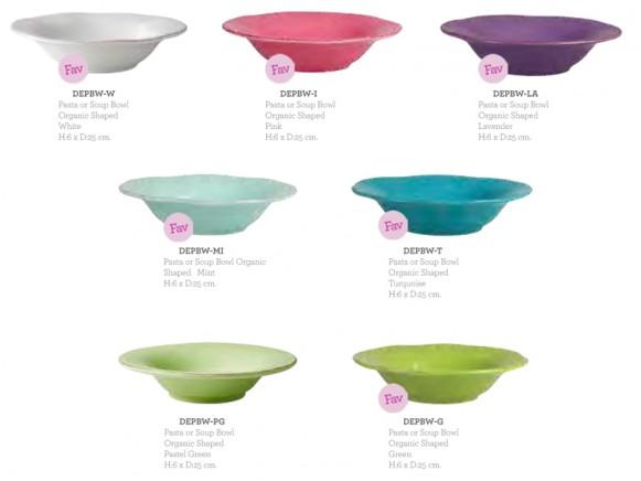 RICE ceramic pasta/soup bowl