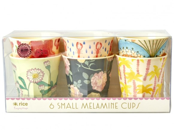 """RICE Small Melamine Cups """"Happy 21st!"""""""