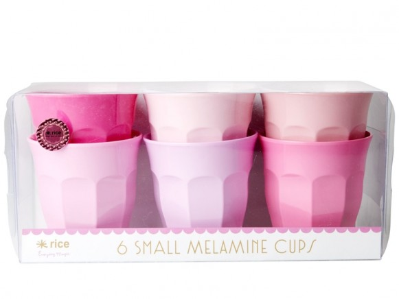RICE Small Melamine Cups SOP Colors