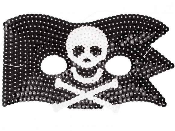 RICE kids pirate sequin mask