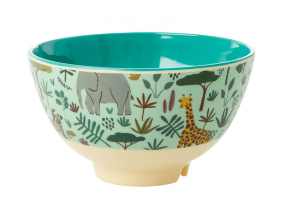 RICE Small Melamine Bowl JUNGLE green