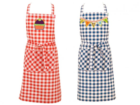 Kids apron in assorted gingham fabric by RICE