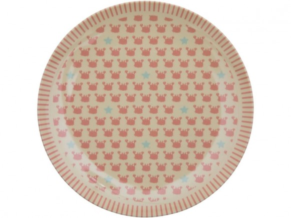 RICE Kids Melamine Lunch Plate OCEAN CRAB