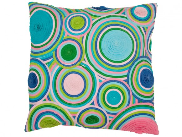 Small circle application cushion cover by RICE