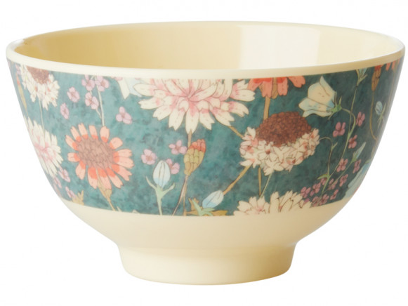 RICE Melamine Bowl AUTUMN FLOWERS small