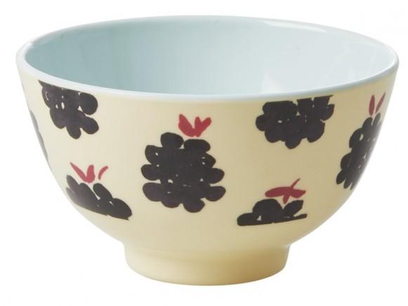 RICE Melamine Bowl BLACKBERRIES small