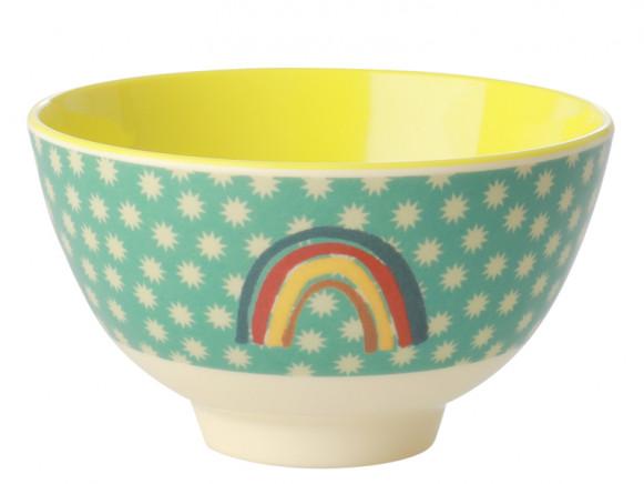 RICE Small Melamine Bowl RAINBOW mint