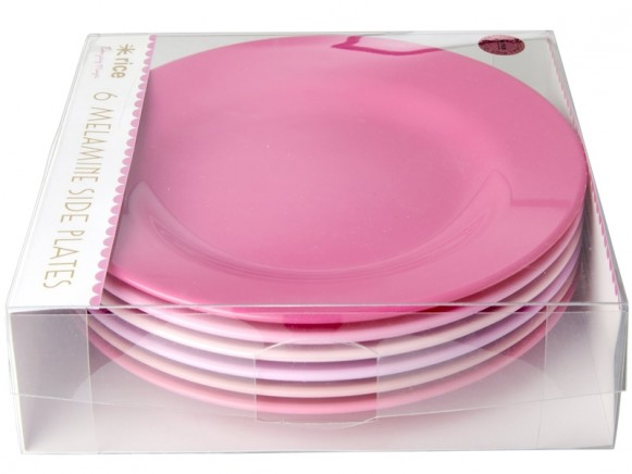 RICE Melamine Side Plates SOP Colors