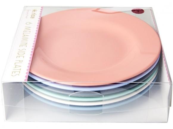 "RICE Melamine Side Plates ""Happy 21st!"" Colors"