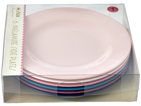 RICE Melamine Side Plates SIMPLY YES Colors