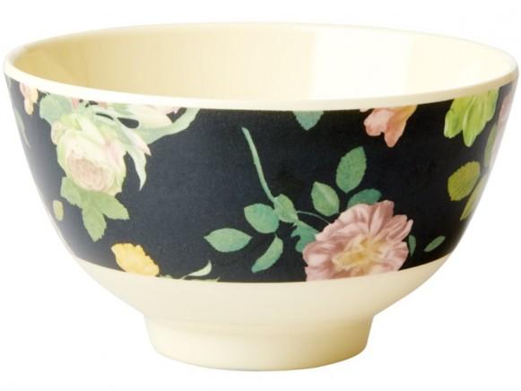RICE Melamine Bowl DARK ROSE small