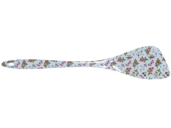 Melamine turner with mint flower print