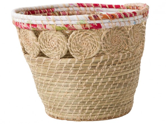 Round raffia basket by RICE Denmark