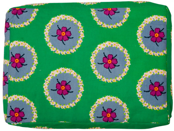 Green laptop bag with circle flower by RICE Denmark