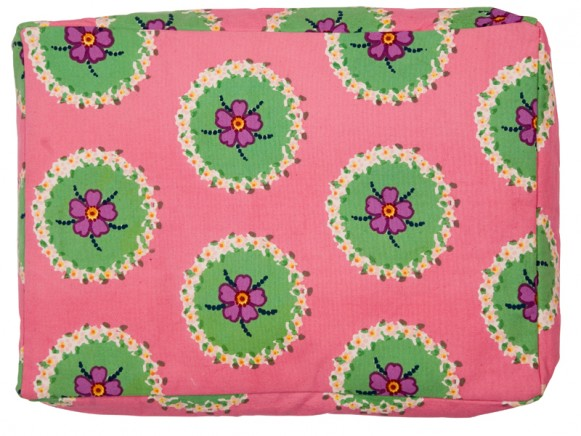 Pink laptop bag with circle flowers by RICE Denmark