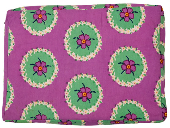 Purple laptop bag with circle flower by RICE Denmark