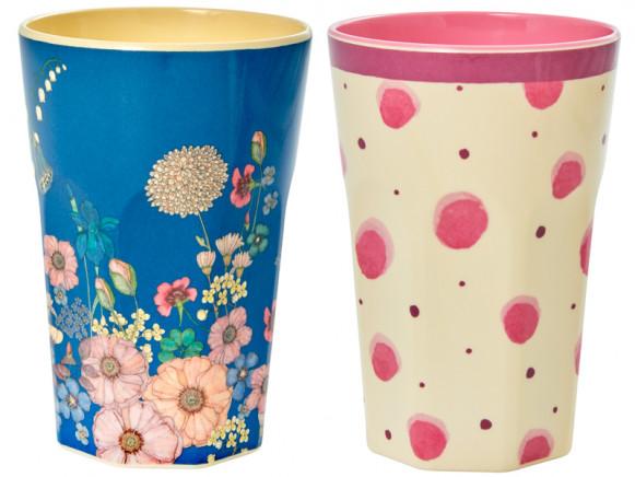RICE Melamine Latte Cups WATERCOLOR SPLASH-FLOWER