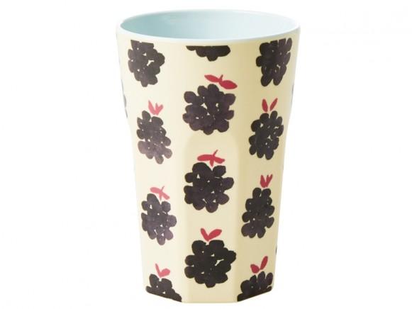 RICE Tall Melamine Cup BLACKBERRIES