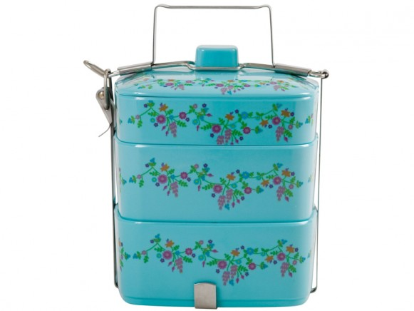 Lunch box with flower print by RICE