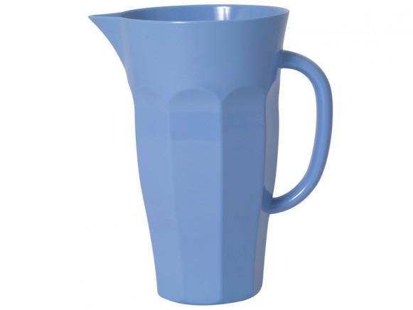 Dusty blue 1,75-liter melamine pitcher by RICE