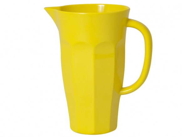 Yellow melamine pitcher (1,0l) by RICE Denmark