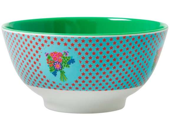 RICE melamine bowl with star print