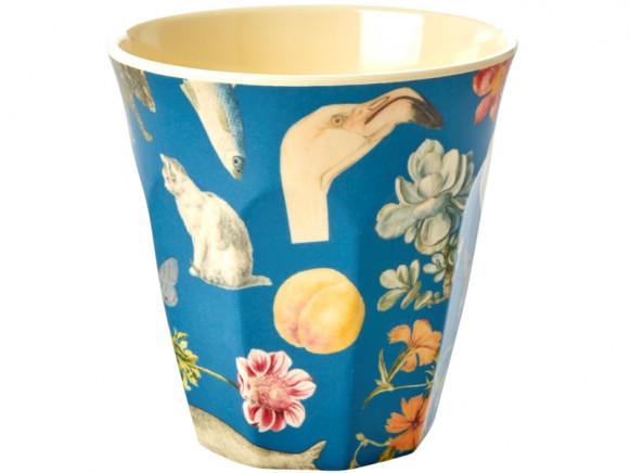 RICE Melamine Cup ART PRINT blue