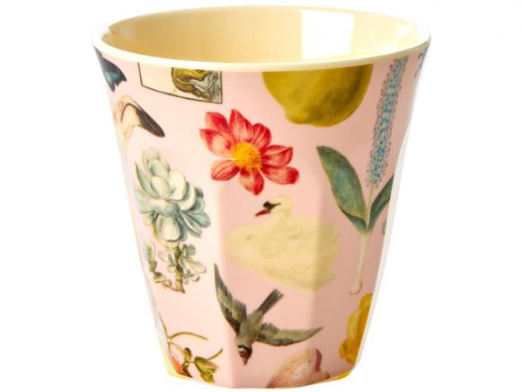 RICE Melamine Cup ART PRINT pink